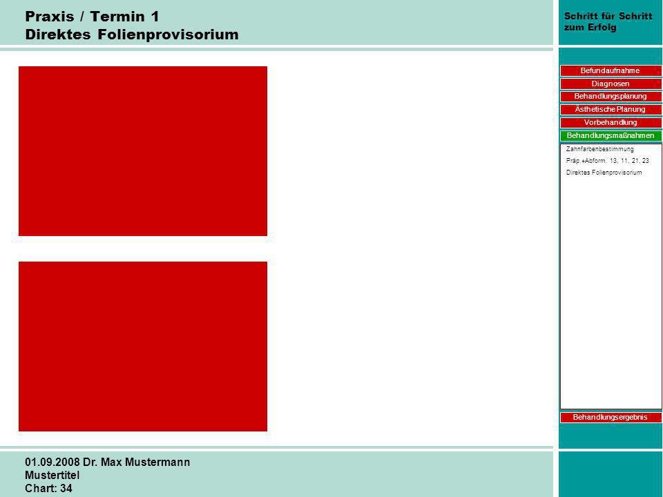 Praxis / Termin 1 Direktes Folienprovisorium