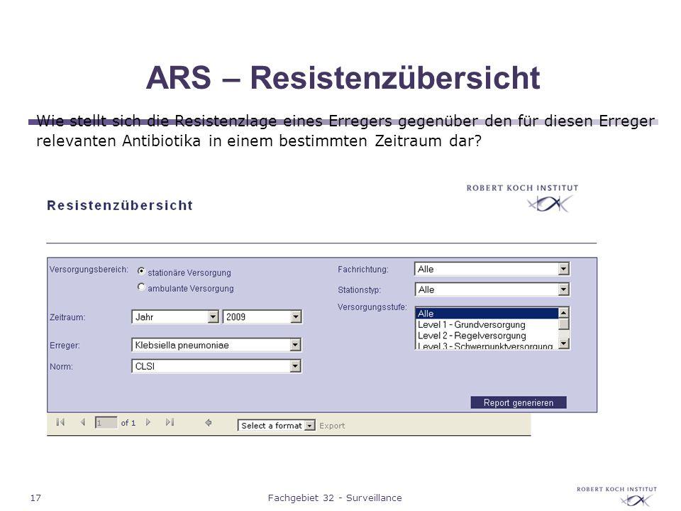 ARS – Resistenzübersicht