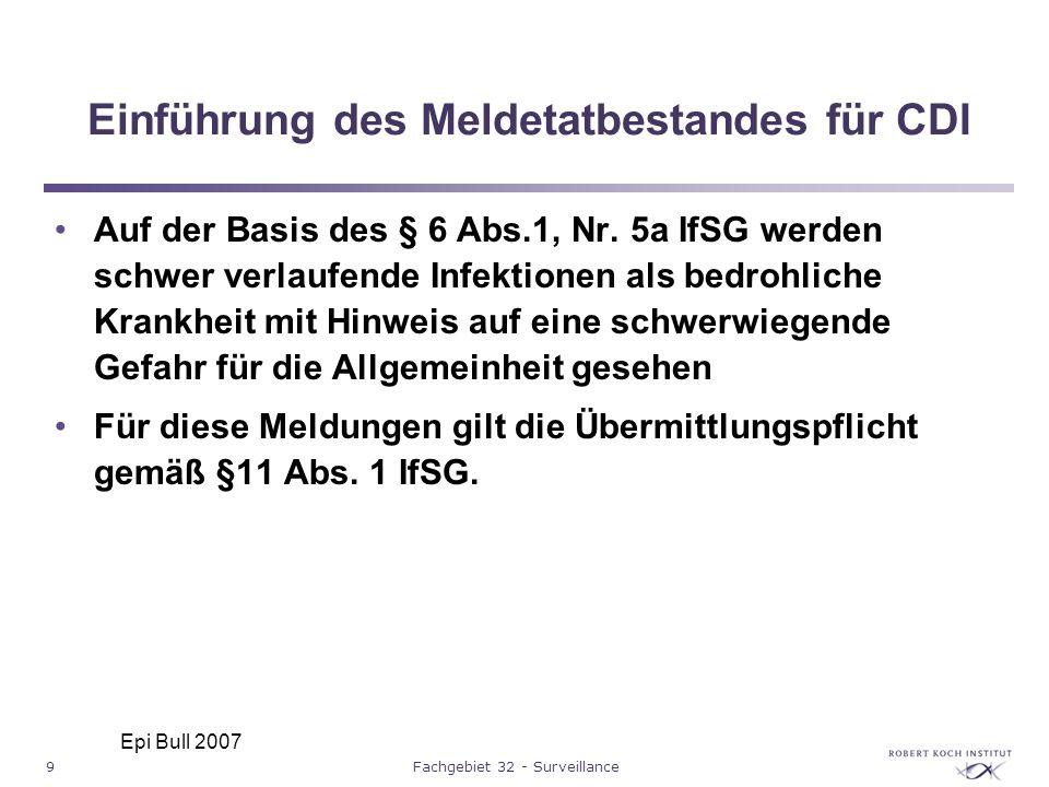 Einführung des Meldetatbestandes für CDI
