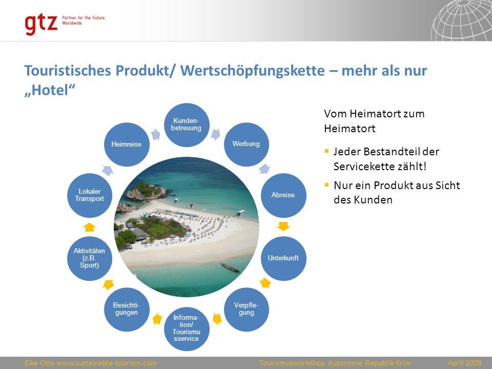 """Touristisches Produkt/ Wertschöpfungskette – mehr als nur """"Hotel"""