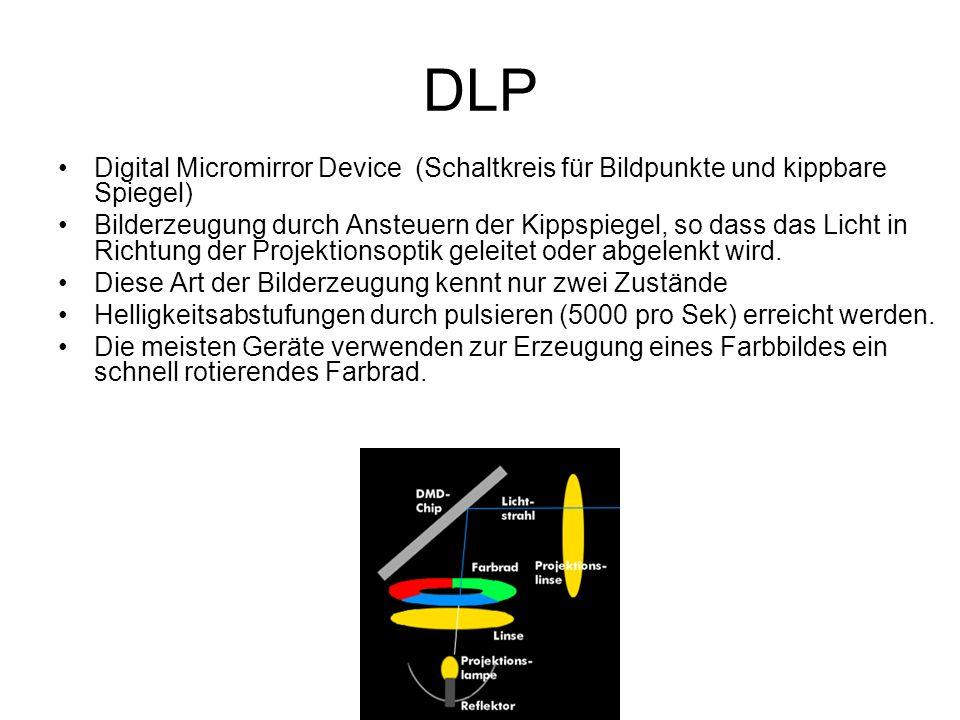 DLP Digital Micromirror Device (Schaltkreis für Bildpunkte und kippbare Spiegel)