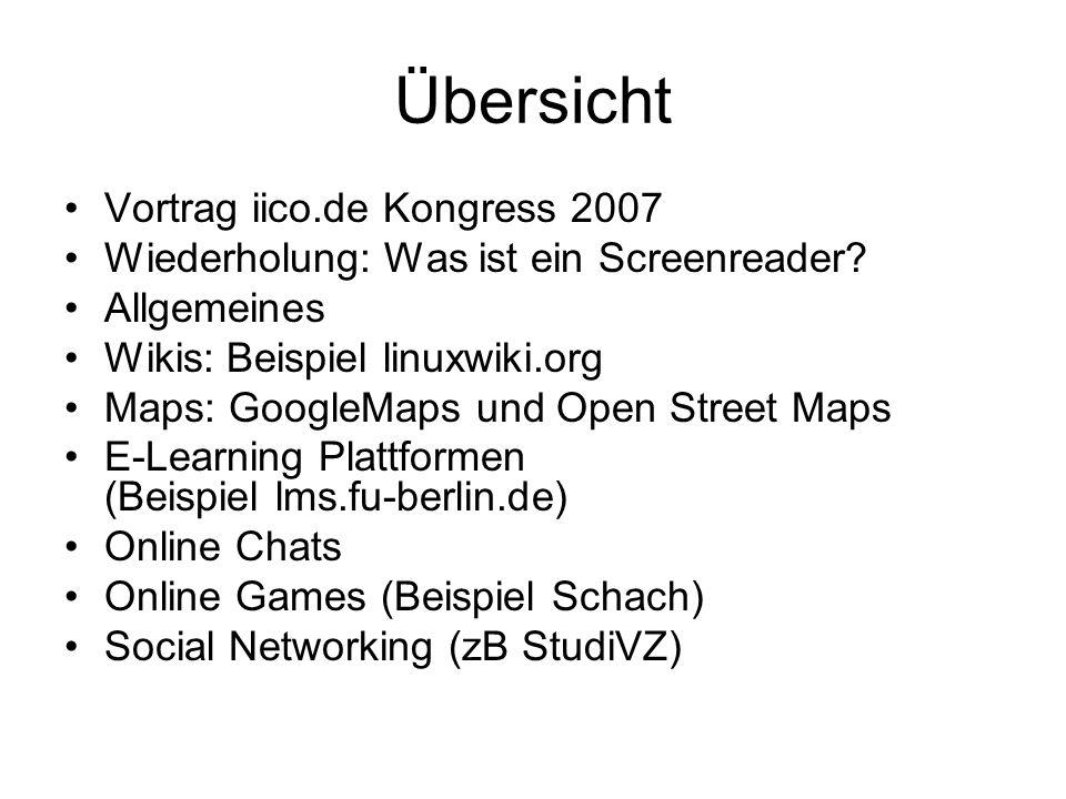 Übersicht Vortrag iico.de Kongress 2007