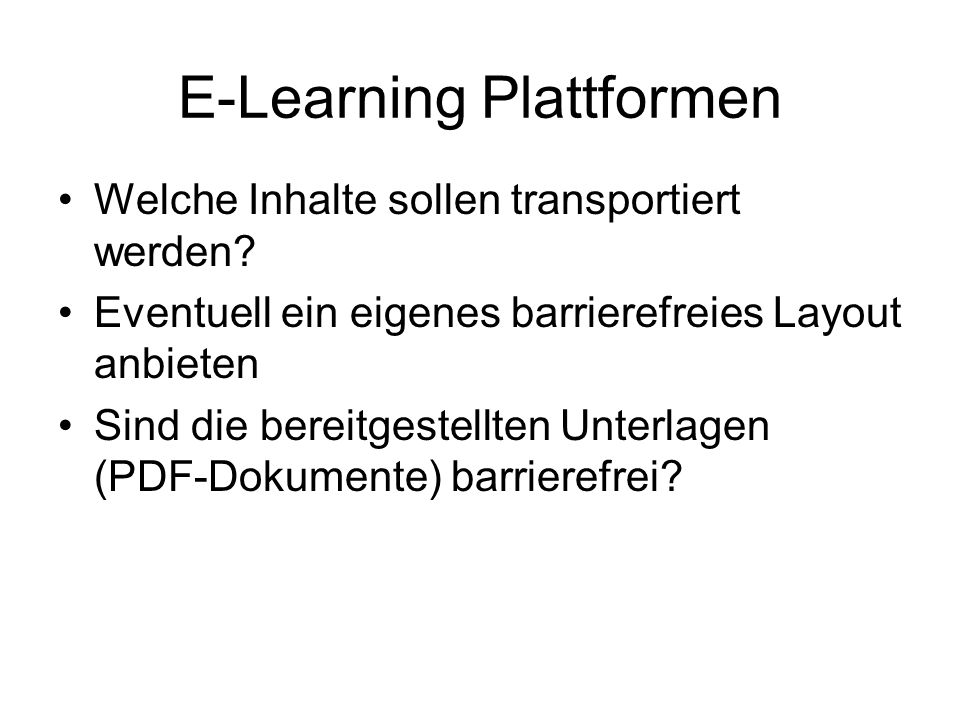 E-Learning Plattformen