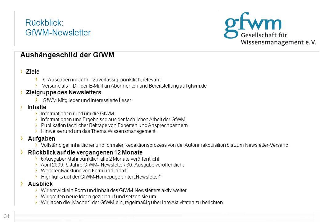 Rückblick: GfWM-Newsletter