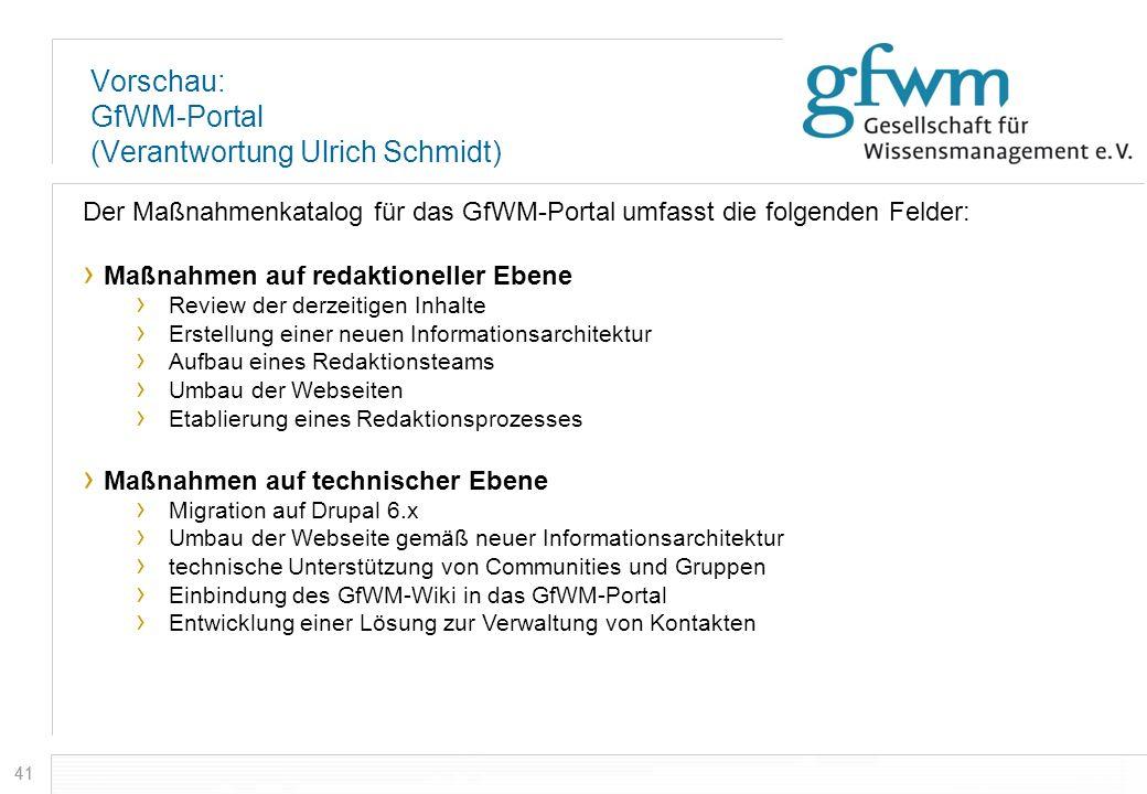 Vorschau: GfWM-Portal (Verantwortung Ulrich Schmidt)