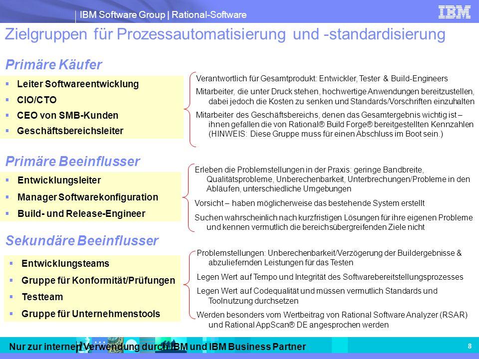Zielgruppen für Prozessautomatisierung und -standardisierung