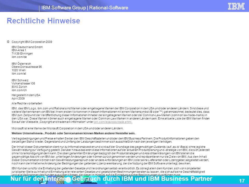 Rechtliche Hinweise © Copyright IBM Corporation 2009