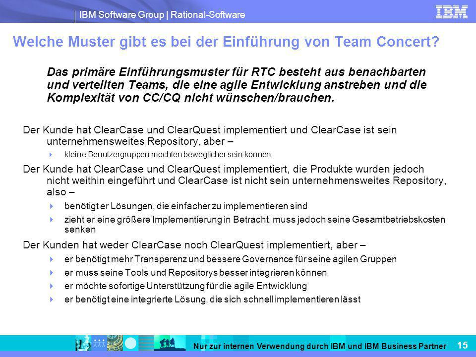 Welche Muster gibt es bei der Einführung von Team Concert