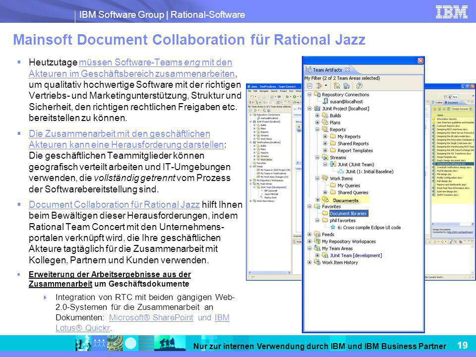Mainsoft Document Collaboration für Rational Jazz