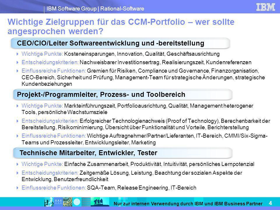 Wichtige Zielgruppen für das CCM-Portfolio – wer sollte angesprochen werden