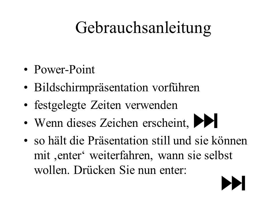 Gebrauchsanleitung Power-Point Bildschirmpräsentation vorführen