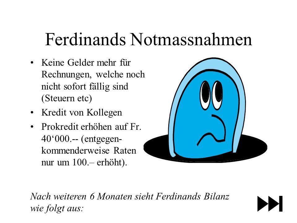 Ferdinands Notmassnahmen