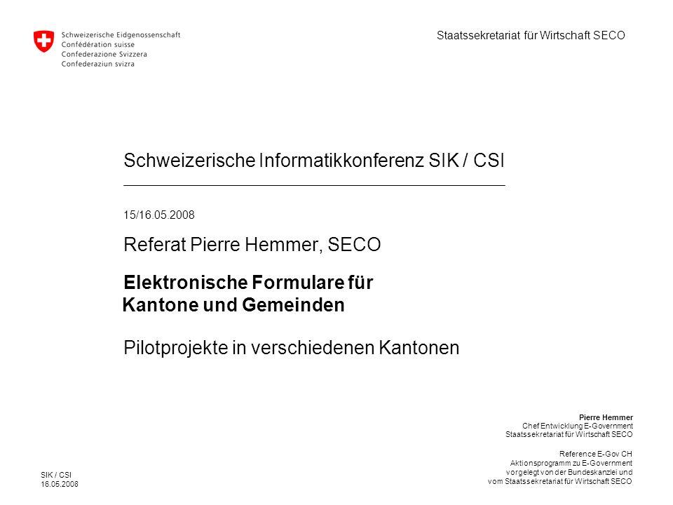 Schweizerische Informatikkonferenz SIK / CSI