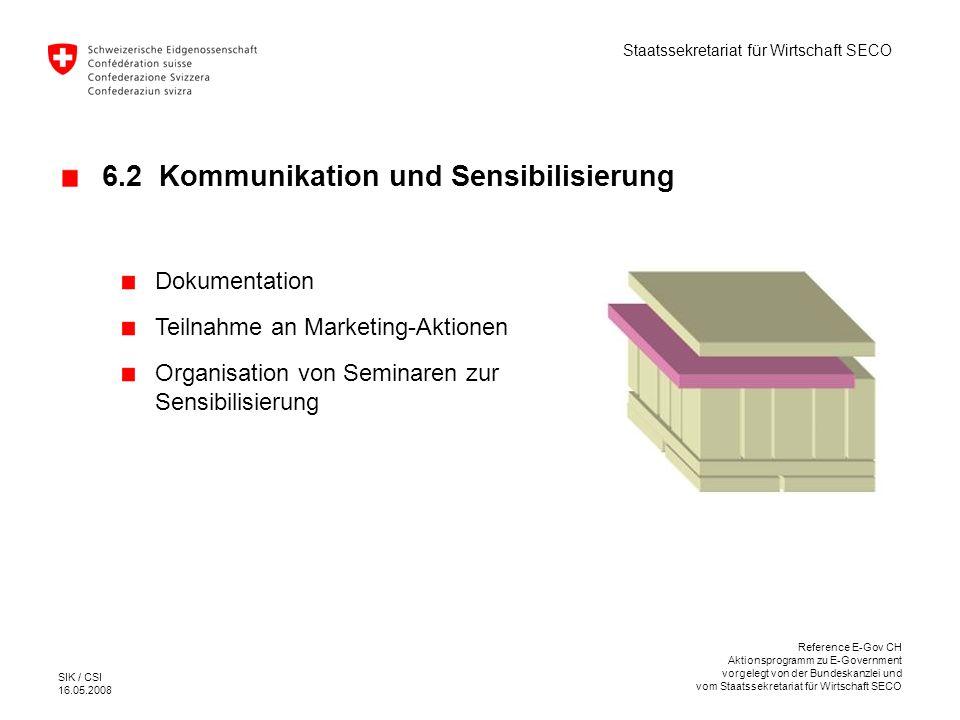 6.2 Kommunikation und Sensibilisierung