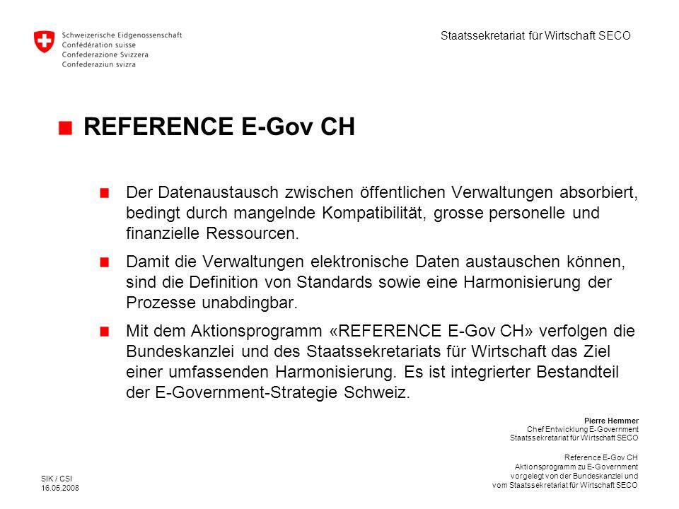 REFERENCE E-Gov CH