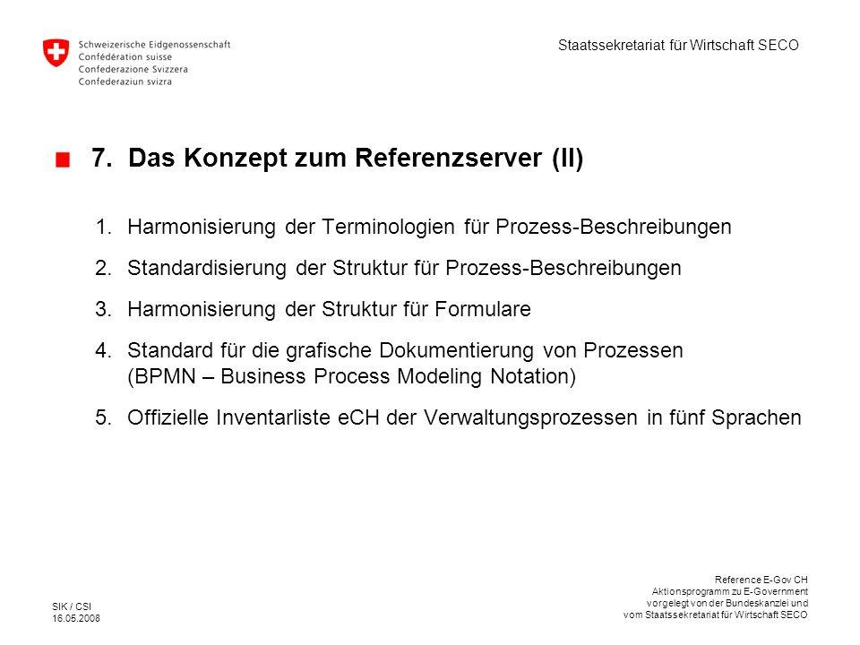 7. Das Konzept zum Referenzserver (II)