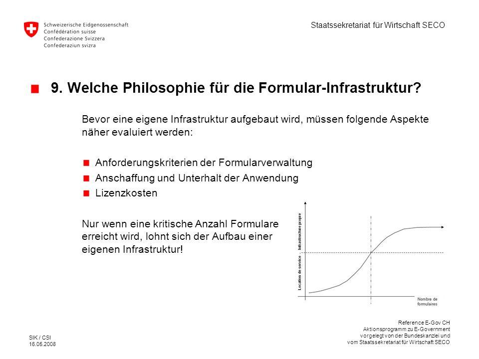 9. Welche Philosophie für die Formular-Infrastruktur