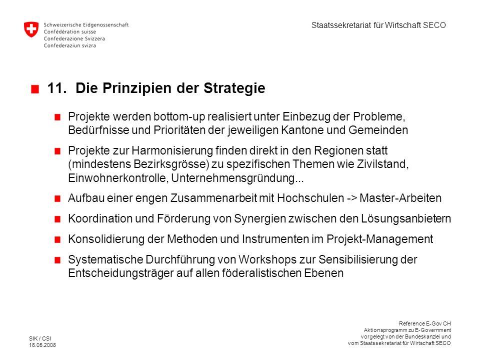 11. Die Prinzipien der Strategie