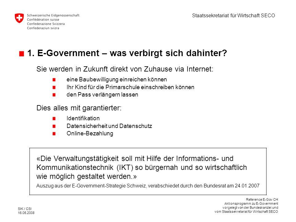 1. E-Government – was verbirgt sich dahinter