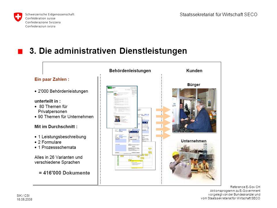 3. Die administrativen Dienstleistungen