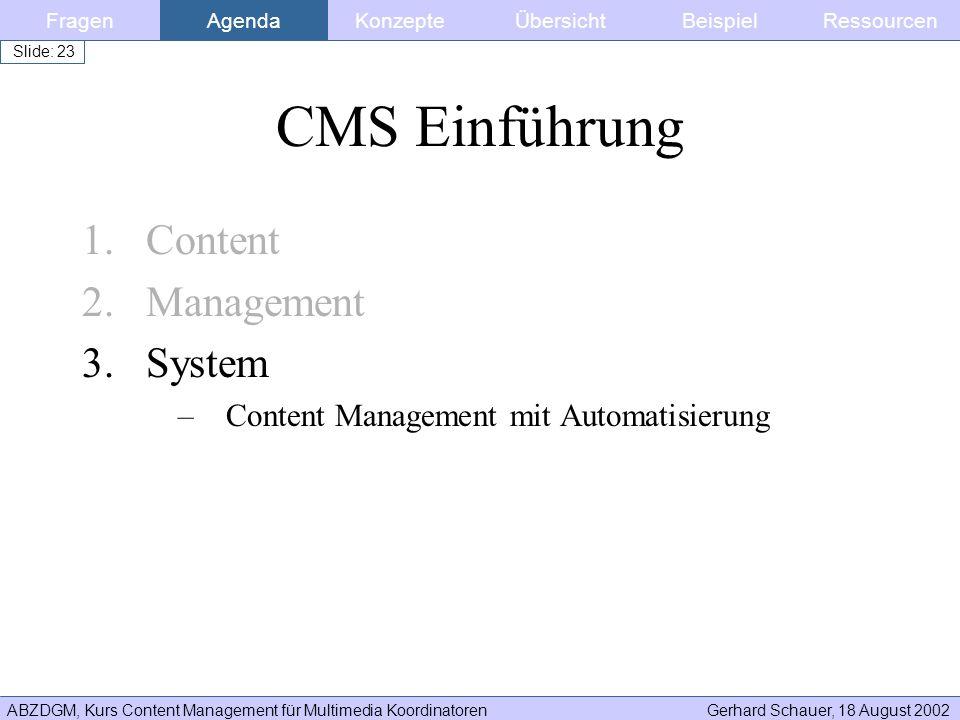 CMS Einführung Content Management System