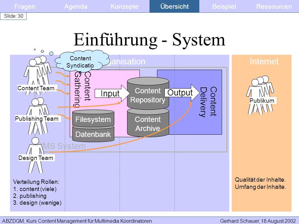 Einführung - System Organisation Internet Content Gathering