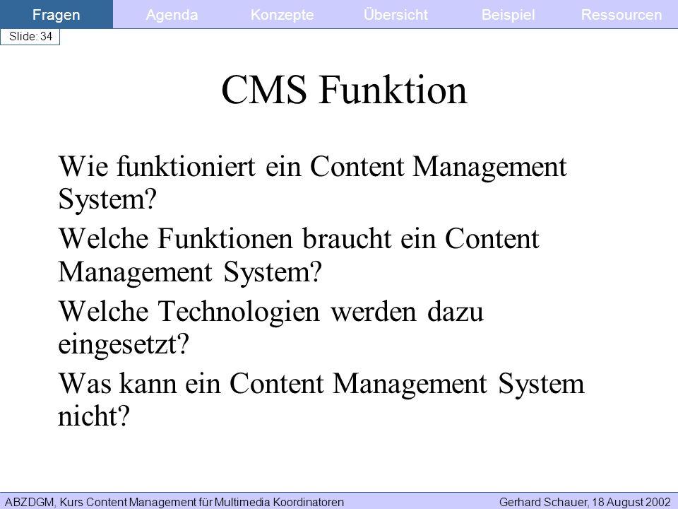 CMS Funktion Wie funktioniert ein Content Management System