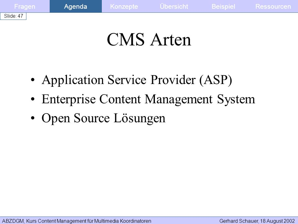 CMS Arten Application Service Provider (ASP)