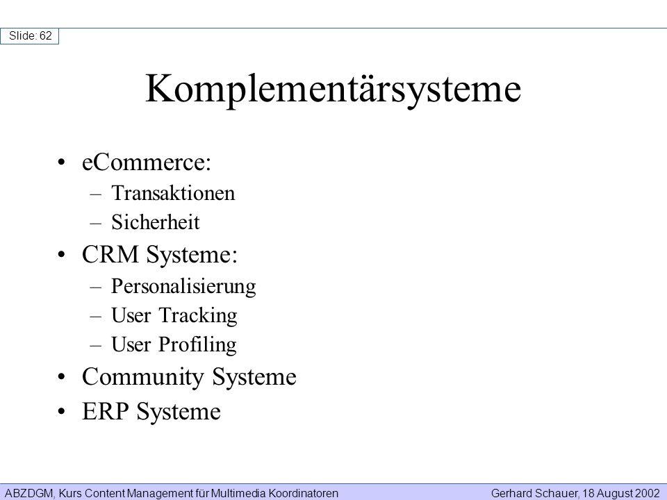 Komplementärsysteme eCommerce: CRM Systeme: Community Systeme