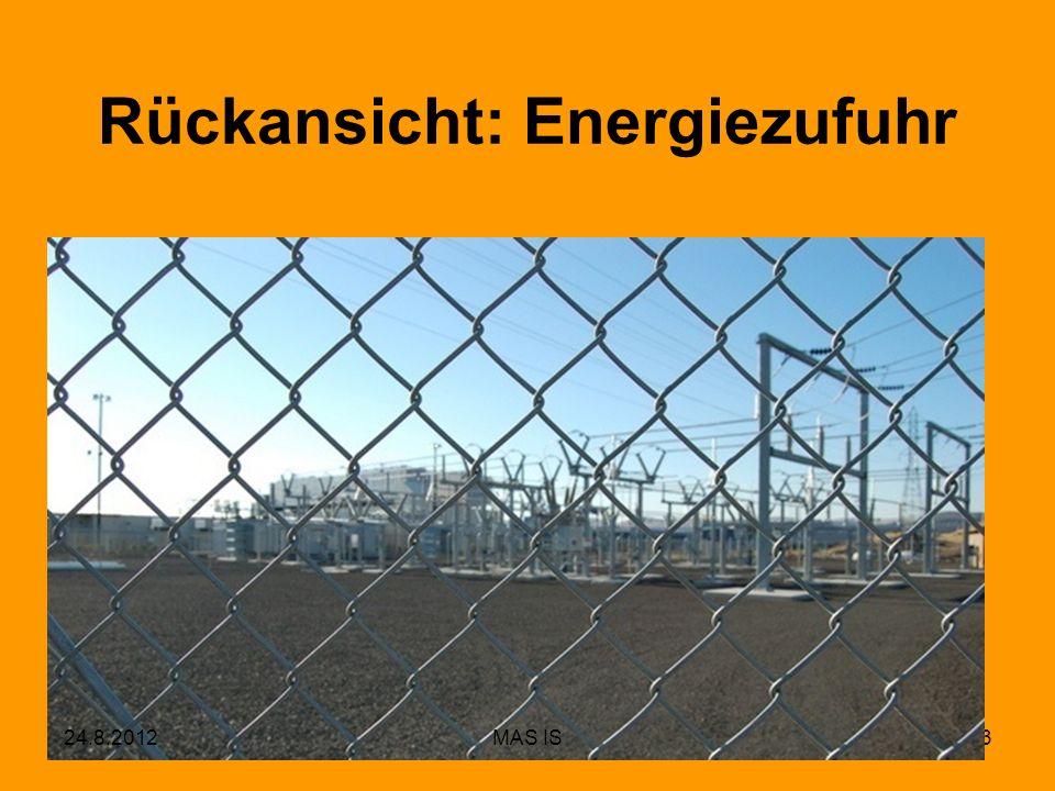 Rückansicht: Energiezufuhr