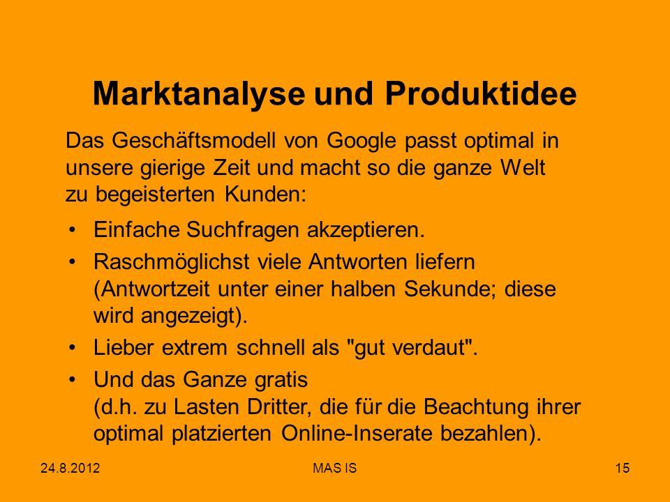 Marktanalyse und Produktidee