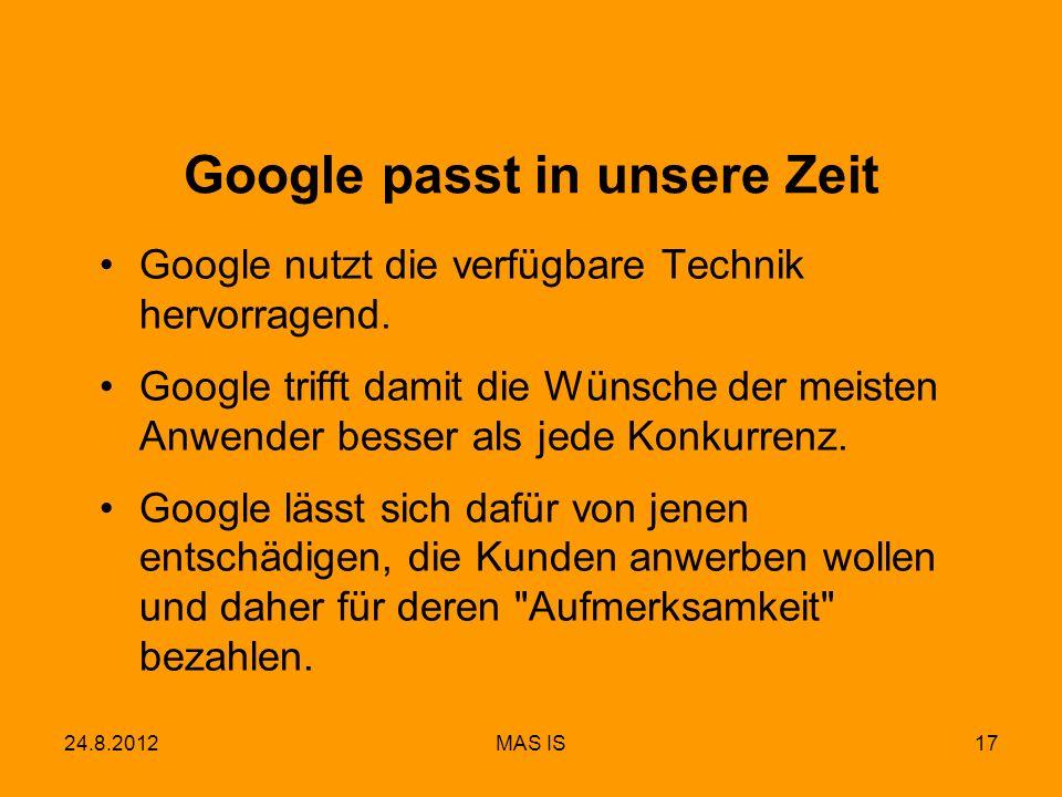 Google passt in unsere Zeit