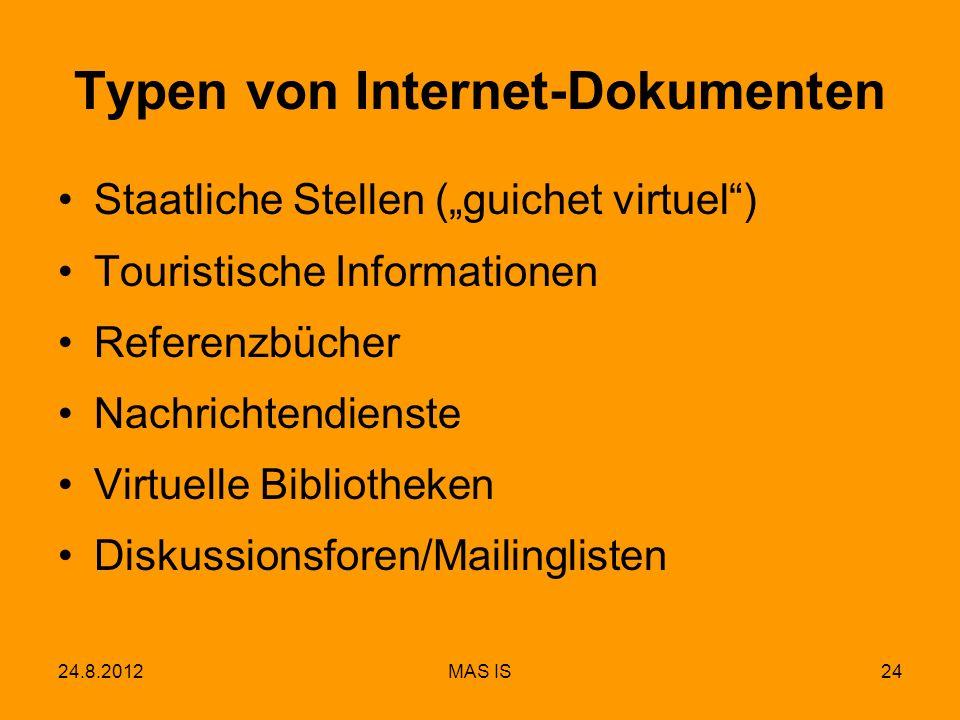 Typen von Internet-Dokumenten