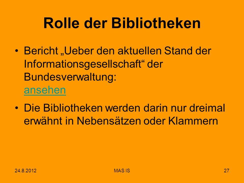 Rolle der Bibliotheken
