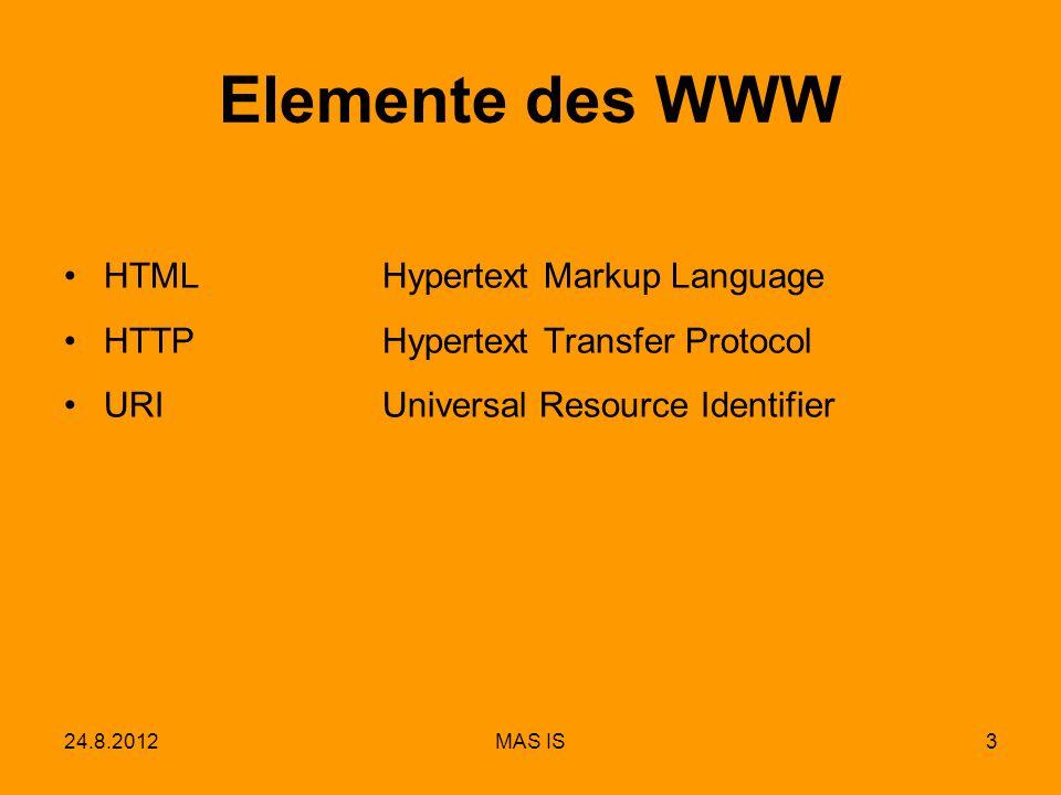 Elemente des WWW HTML Hypertext Markup Language
