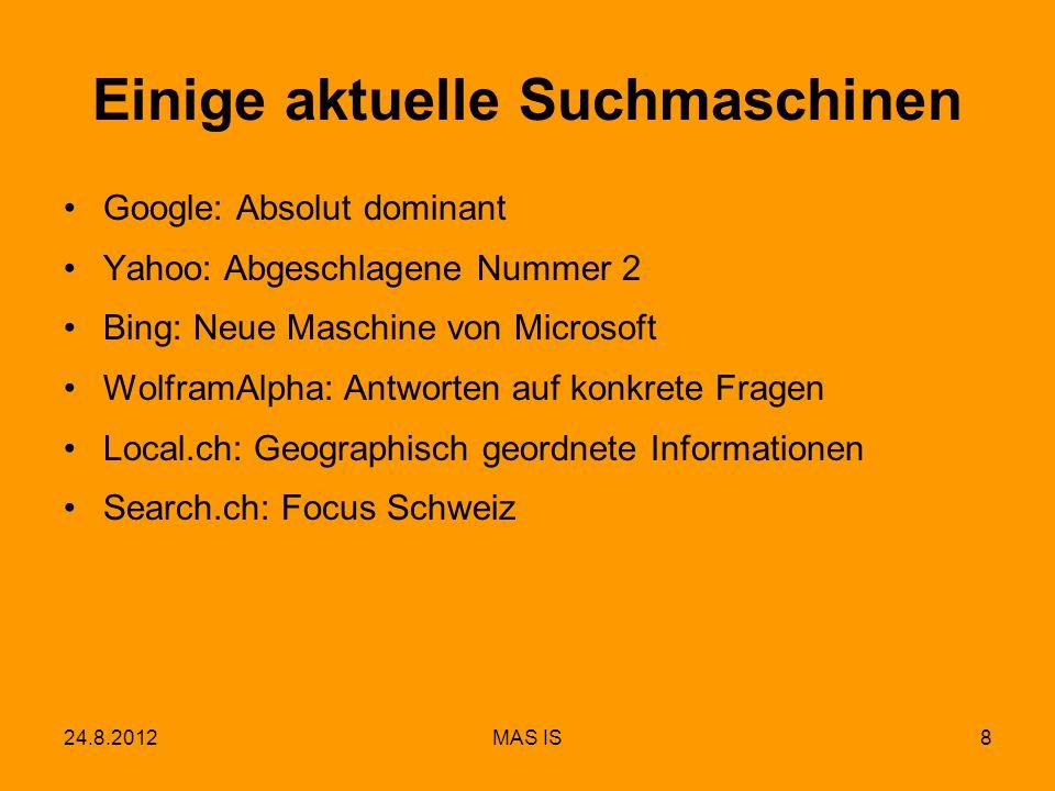 Einige aktuelle Suchmaschinen