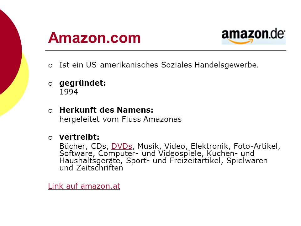 Amazon.com Ist ein US-amerikanisches Soziales Handelsgewerbe.