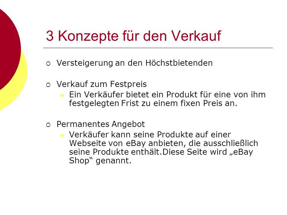 3 Konzepte für den Verkauf