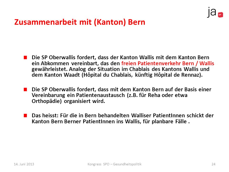 Zusammenarbeit mit (Kanton) Bern
