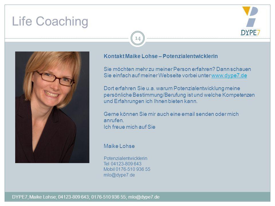Life Coaching Kontakt Maike Lohse – Potenzialentwicklerin