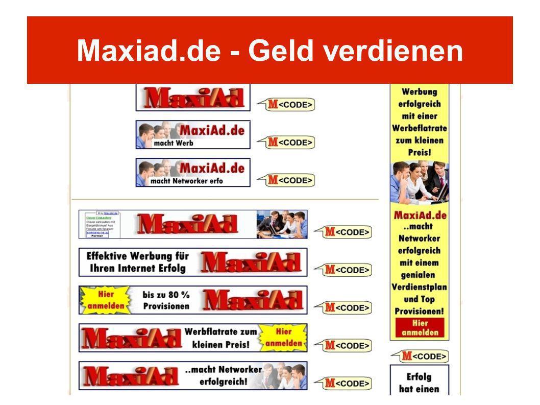Maxiad.de - Geld verdienen