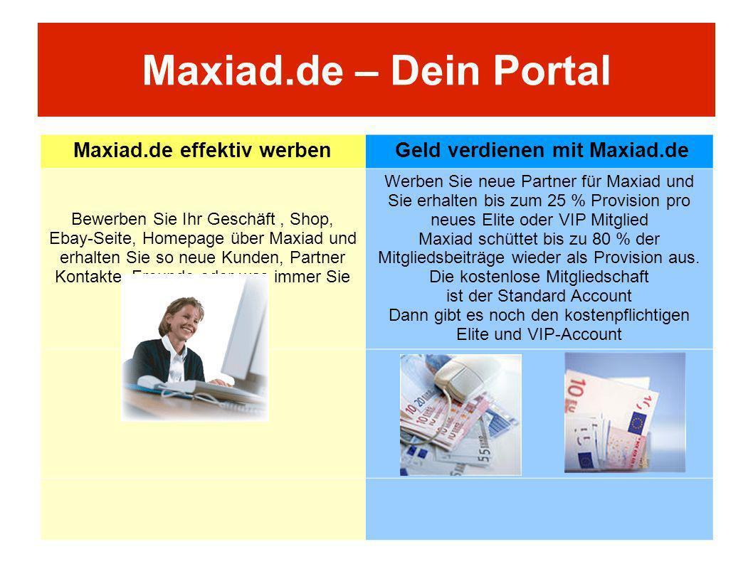 Maxiad.de effektiv werben Geld verdienen mit Maxiad.de