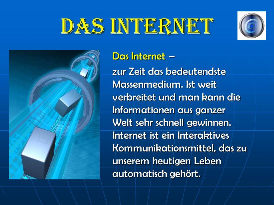 Das Internet Das Internet –
