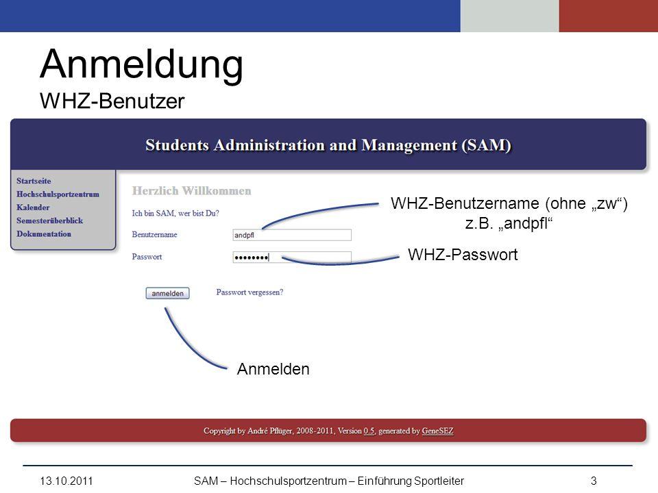 Anmeldung WHZ-Benutzer