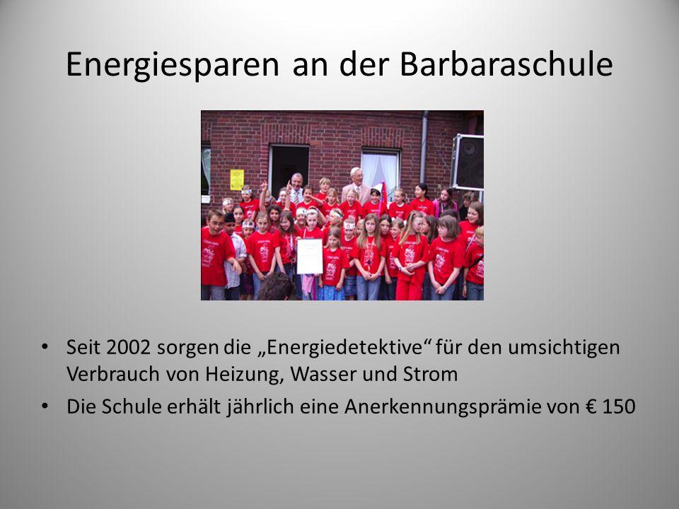 Energiesparen an der Barbaraschule
