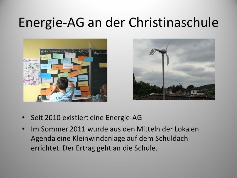 Energie-AG an der Christinaschule