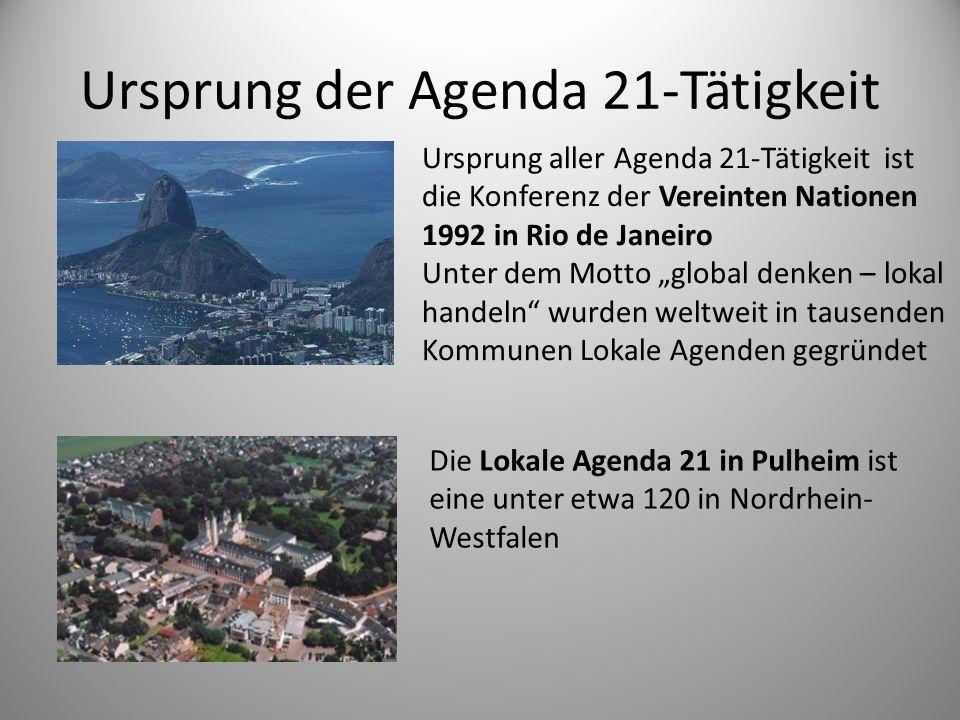 Ursprung der Agenda 21-Tätigkeit