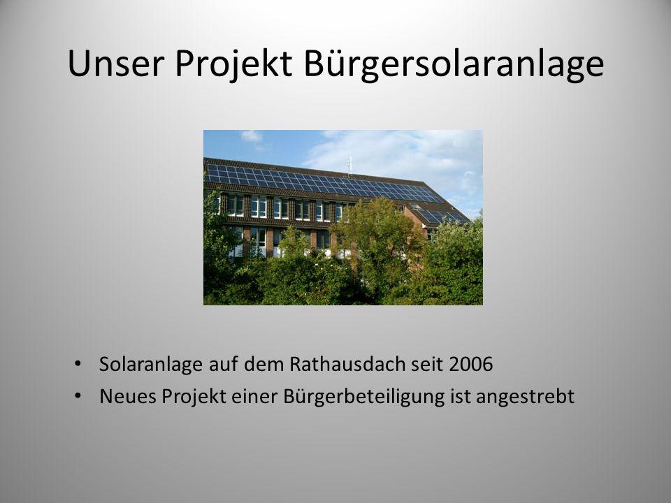 Unser Projekt Bürgersolaranlage