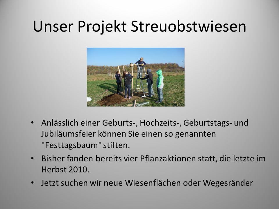 Unser Projekt Streuobstwiesen