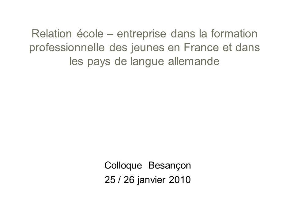 Colloque Besançon 25 / 26 janvier 2010